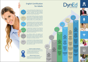 Certification Poster for Adults