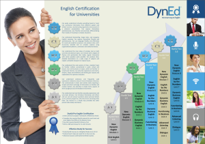 Certification Poster for Universities